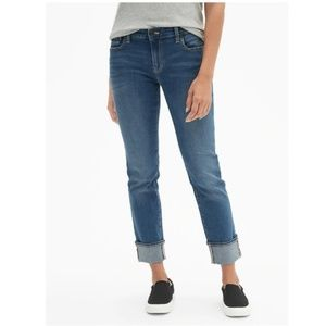 27 / 4 Gap Real Straight Cuffed Blue Ankle Jeans